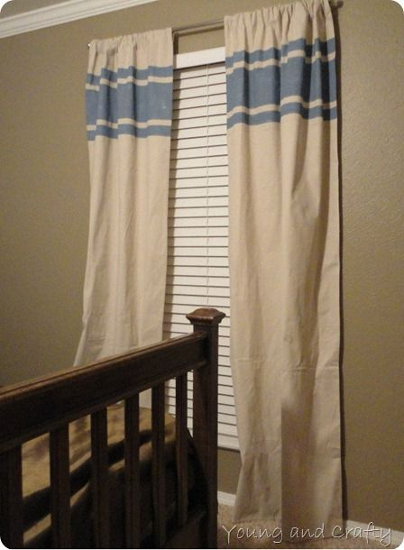 No Sew Drop Cloth Curtains How To Pinterest Drop Cloth Curtains Drop And Painters Tape