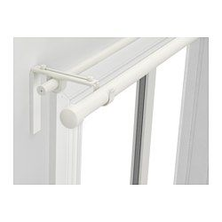 IKEA...always coming to the rescue RÄCKA / HUGAD, Double curtain rod combination, white
