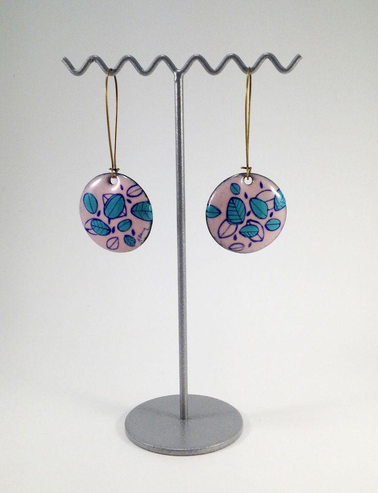 Boucles d'oreilles rondes en émail - Amandine Barry
