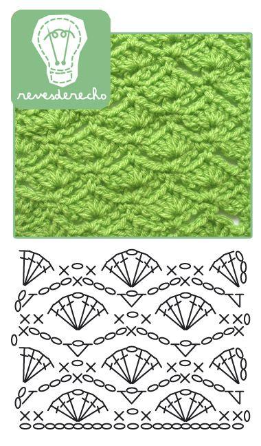 Crochet Shell Stitch - Chart