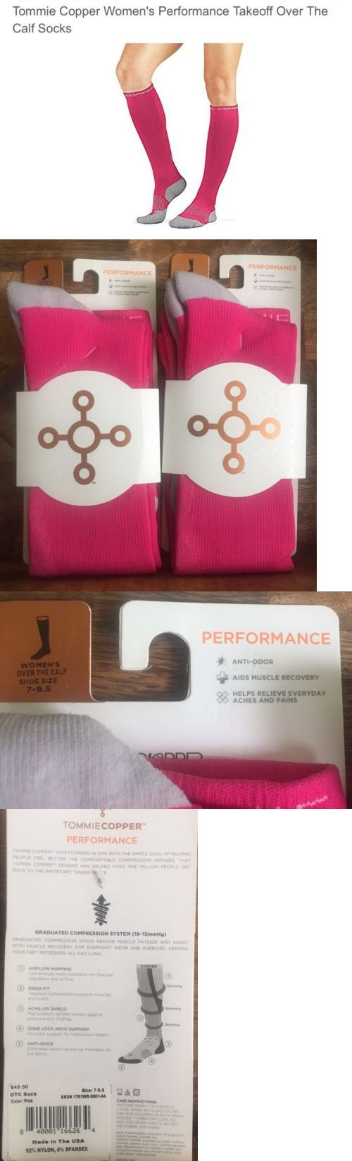 Socks 66078: 2 Pairs Tommie Copper Women S Over The Calf Socks Compression Socks Pink 7-9.5 -> BUY IT NOW ONLY: $35 on eBay!