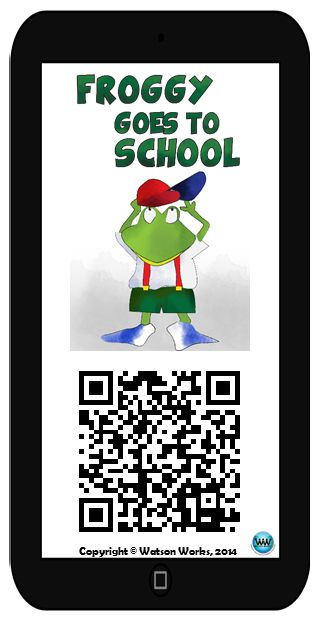 If you've been considering revamping your listening centers to use smart devices and QR codes, we hope you'll try out our FREE Froggy Goes to School Listening Center Card. It features an iPhone-sized card with the title, image of the main character, and QR code which links to an audio recording of the book (6 min. 17 sec.), narrated by Heather from Watson Works (please excuse my Texas twang! Haha!).  We hope you enjoy it, and we'd love to hear your feedback! :)  #WatsonWorks #iCANTEaCH