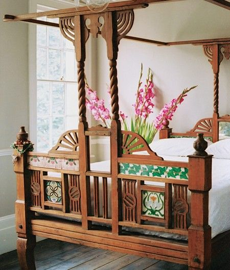 Traditional Four poster Indian Bed