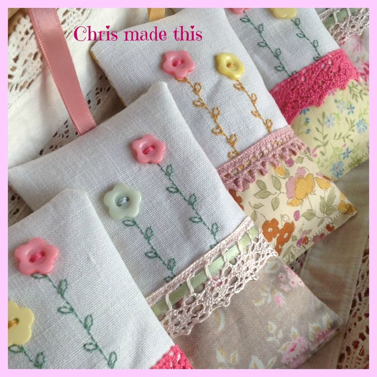 Hand made lavender bags, available from Chris made this