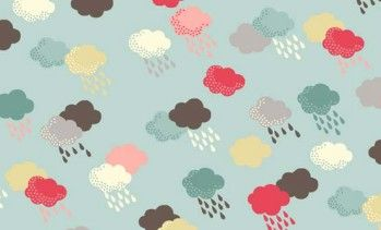 Makower Washday fabric - Clouds Blue