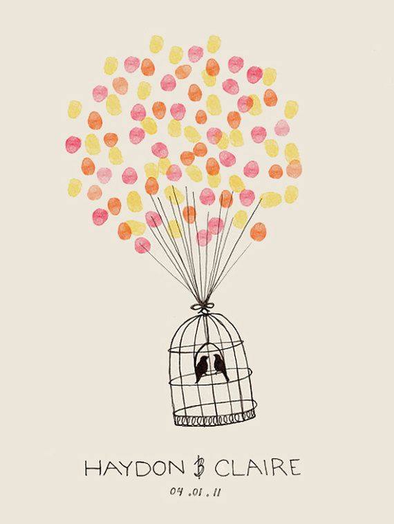 The silhouette can be replaced with something baby or in nursery theme. Guests at showers and family can add their fingerprints in a coordinating neutral color with Mom & Dad adding theirs in a heart shape.