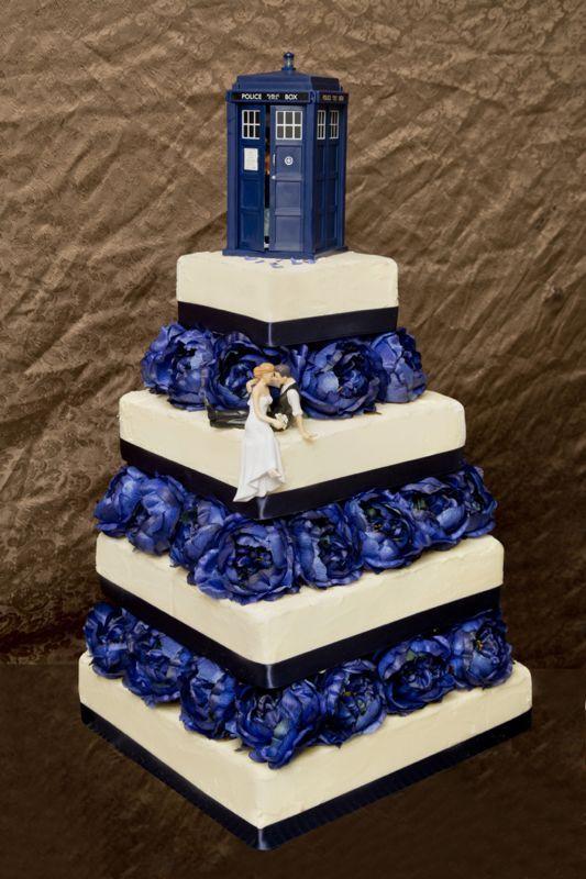 Tardis Cupcake Cake