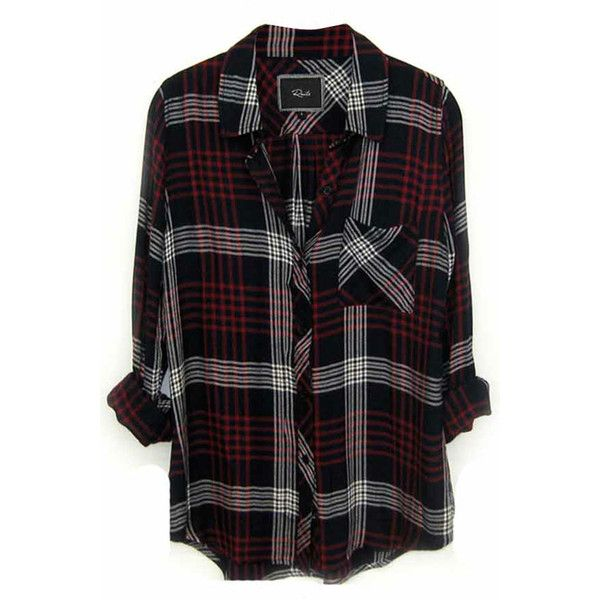 Rails Hunter Plaid Shirt in Indigo/White ($128) ❤ liked on Polyvore featuring tops, shirts, flannels, blouses, tartan plaid shirt, tartan shirt, flannel shirts, white top and relax shirt