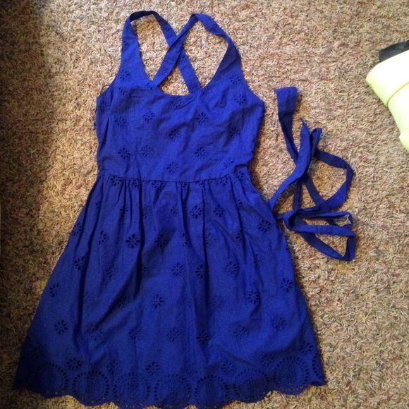 Aeropostale dress Super cute, navy spring dress! In perfect condition Aeropostale Dresses Mini