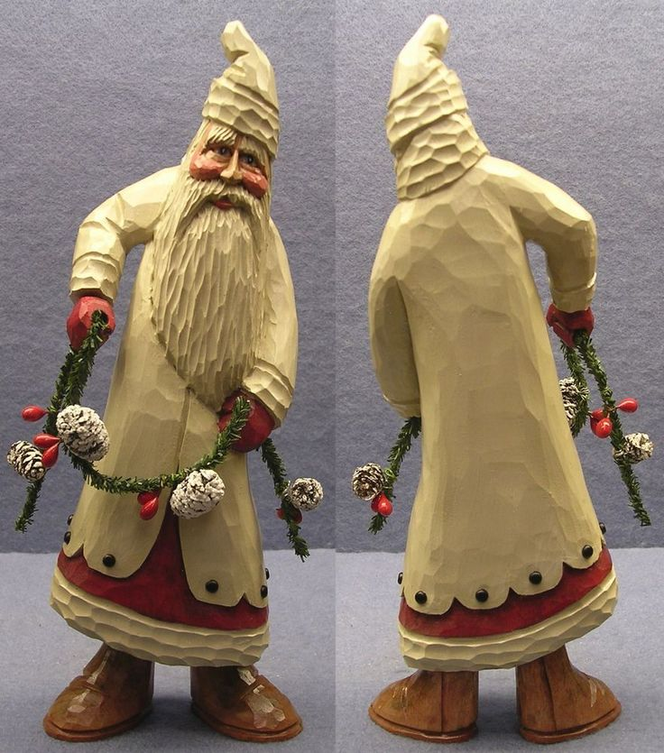 Carved Santa 15-22 by Woodbuster in Collectibles, Holiday & Seasonal, Christmas: Current (1991-Now)   eBay