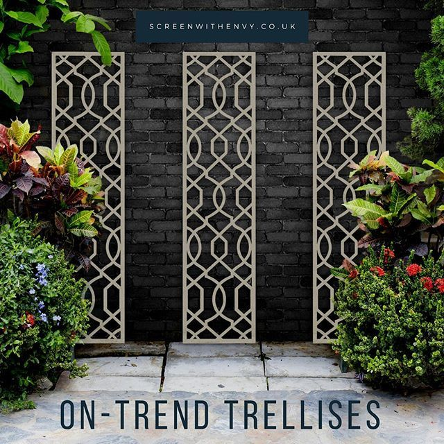 Frond Fence Anthracite Grey 6ft Tall Garden Trellis Garden