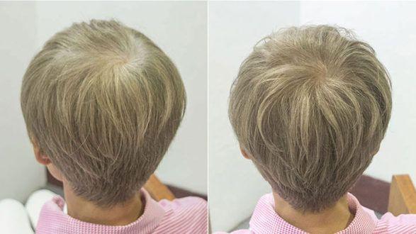 白髪を目立たなくする染め方のひとつ 日本人のショートヘア