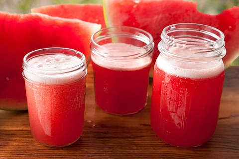Summer Hoedown--watermelon, a bit of sugar, maraschino liqueur, and white beer. Yes I want, thank you!
