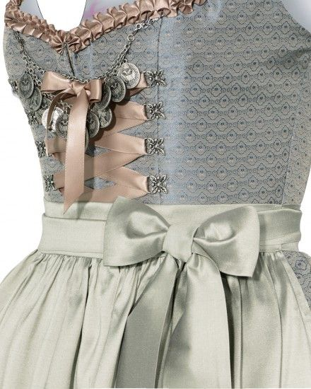 Silk & Pearls silk dirndl with short silk skirt | LODENFREY