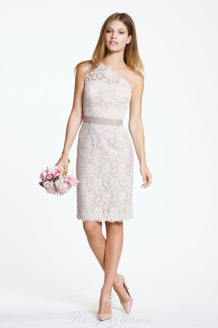 The 25 best peplum bridesmaid dresses ideas on pinterest jjs blush lacelininggrosgrain ribbon short bridesmaid dress strapless contoured neckline lace ombrellifo Images