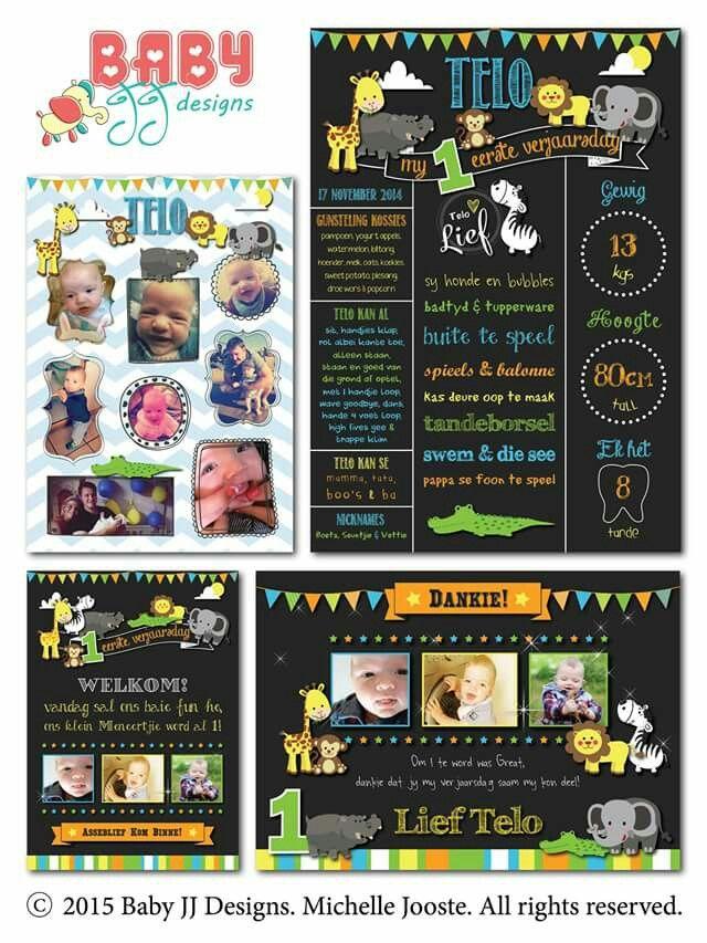 Wild at Heart Birthday Design Package by Baby JJ Designs https://facebook.com/babyjjdesigns