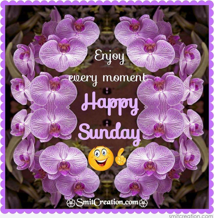 Enjoy Every Moment Happy Sunday