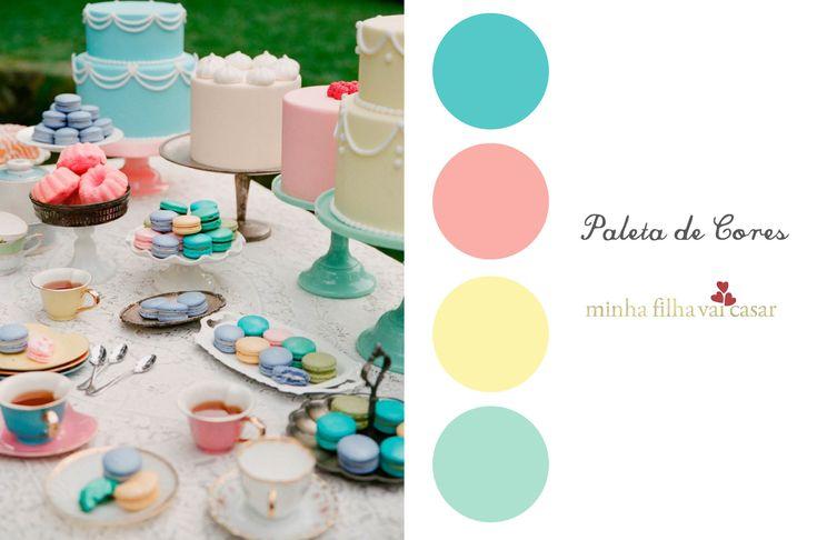 paleta de cores casamento azul - Pesquisa Google