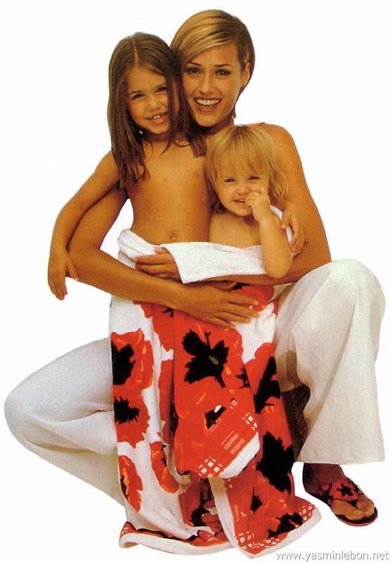 Yasmin, Amber and Saffron Le Bon 1994 escada catalogue spring / summer