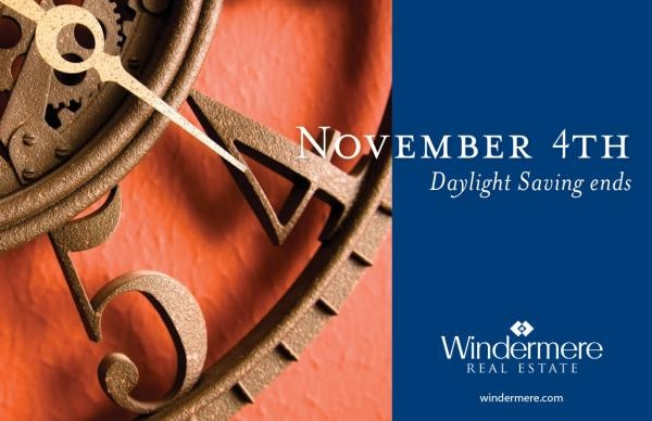 reminder to set your clocks back this Sunday - fall back 1 hour. www.seattlwindermere.com
