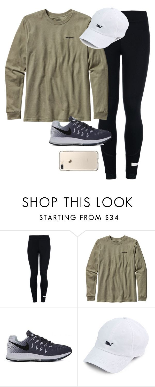 """""""It's snowing outside"""" by amberfmillard-1 ❤ liked on Polyvore featuring adidas, Patagonia and NIKE"""