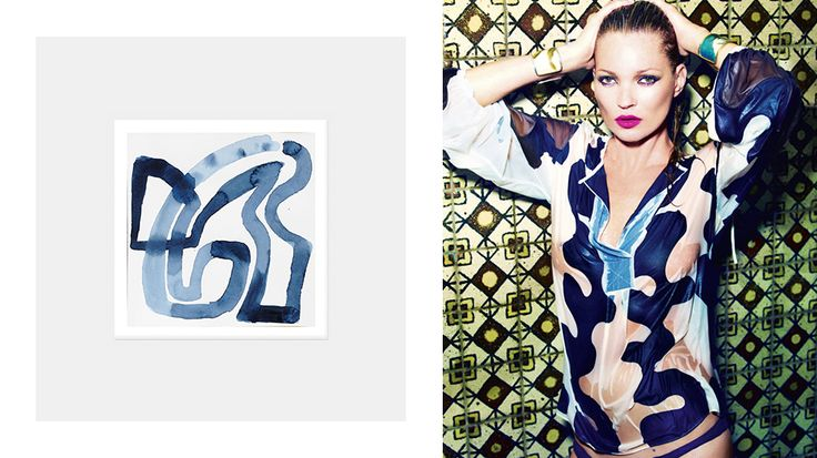 How to Decorate Your Home Like Kate Moss // Wave painting