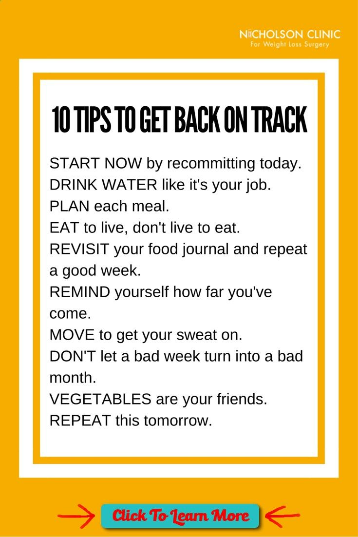 #FastestWayToLoseWeight by EATING, Click to learn more, Feel like youve fallen off track with your weight loss plan? Here are 10 simple tips to help you get back on track. Weight Loss Surgery   Bariatric Surgery   Lap Band   Gastric Sleeve   Gastric Bypass   Gastric Balloon , #HealthyRecipes, #FitnessRecipes, #BurnFatRecipes, #WeightLossRecipes, #WeightLossDiets