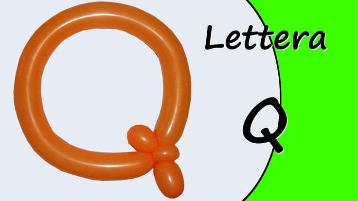 Video tutorial on how to make the letter Q with balloon twisting. Learn the alphabet with balloons modeled #alphabet #letterQ