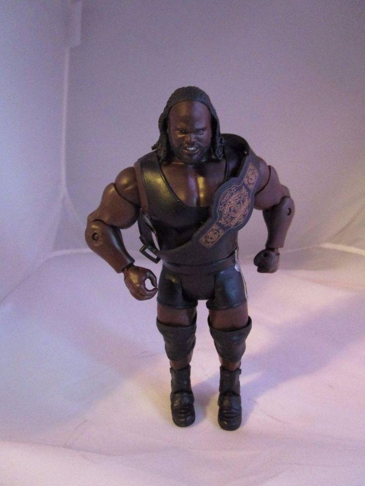 "WWE 7"" Figure MARK HENRY Worlds Strongest Man WSM 2011 with WWE Belt #Mattel"