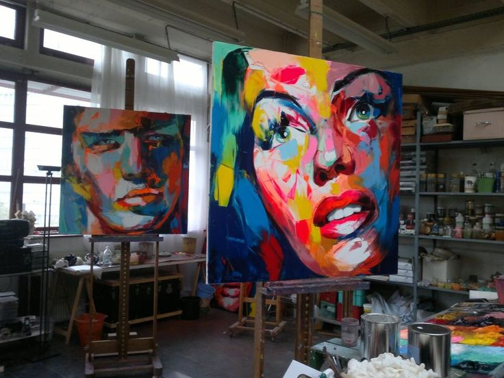"""Multicolor Francoise Nielly Portraits Handmade Oil: 17 Best Images About """"Francoise Nielly"""" I Love Her Work"""