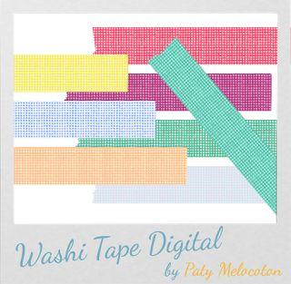 Tutorial Washi Tape Digital