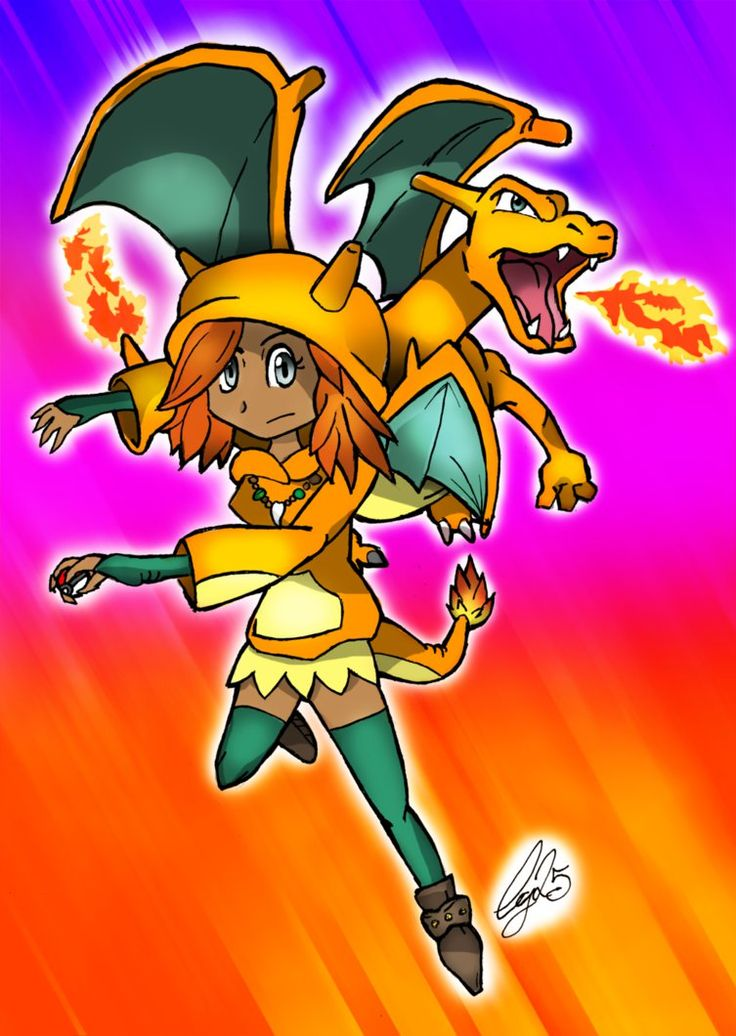 Charizard Girl trainer by Ccjay25.deviantart.com on @DeviantArt
