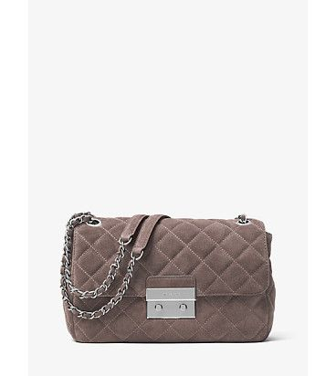 Sloan large quilted-suede shoulder bag by MICHAEL Michael Kors.