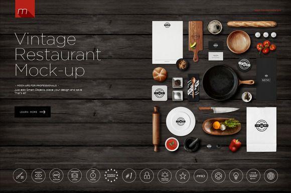Restaurant Identity Branding Mock-up by Mesmeriseme on Creative Market