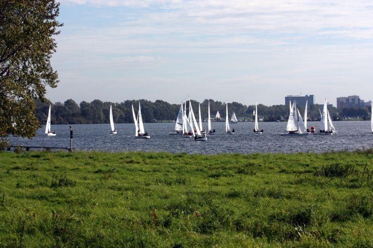 In de zomer is het goed toeven op de Maasplassen.