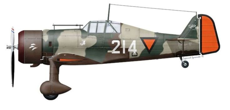 "Fokker D.XXI ""214"" - Dutch Air Force - 1-II-1 LvR (1e JaVa), De Kooy, autumn 1938"