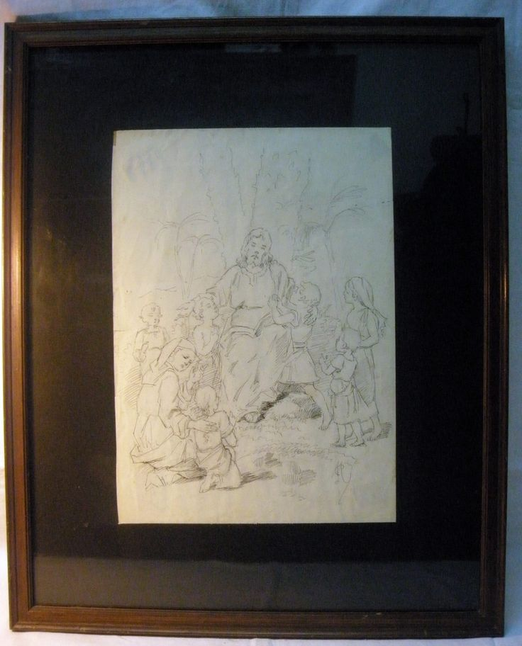 Dip pen drawing by Martín Coronas Pueyo (Huesca - Zaragoza 1928), belonging to the Society of Jesus, from the early 20th century. The drawing is framed with a passpartout, with glass. Measurements of the drawing: 22x31.5 cm. Measurments with the frame: 40x50 cm. The drawing was framed in the Sixties of the 20th century.