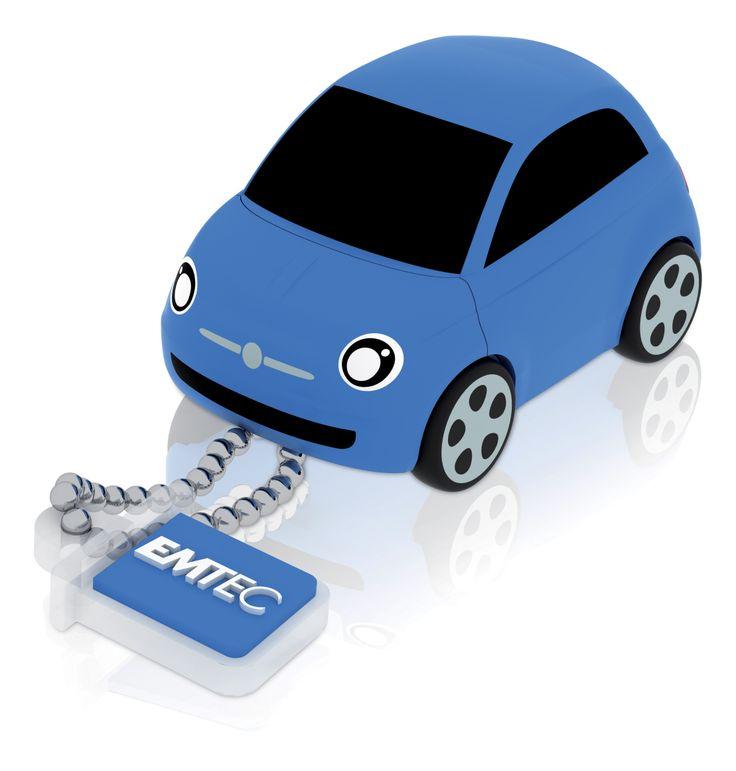 Une petite Fiat 500 en guise de clé USB !  http://www.bruneau.fr/informatique-bureautique/-OF82771.htm
