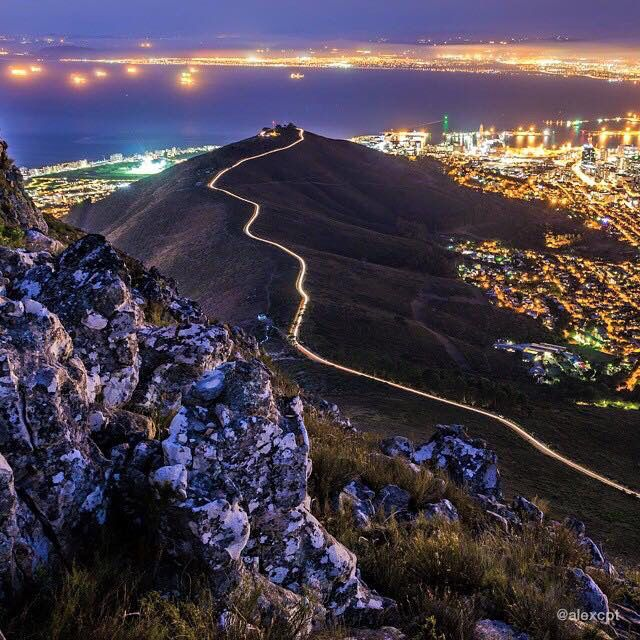 The road to Signal Hill, Cape Town