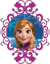 Disney Frozen Anna Iron on Transfer...I think I want to just put this in photoshop, add some blue to the white and print and frame...use as wall decor!