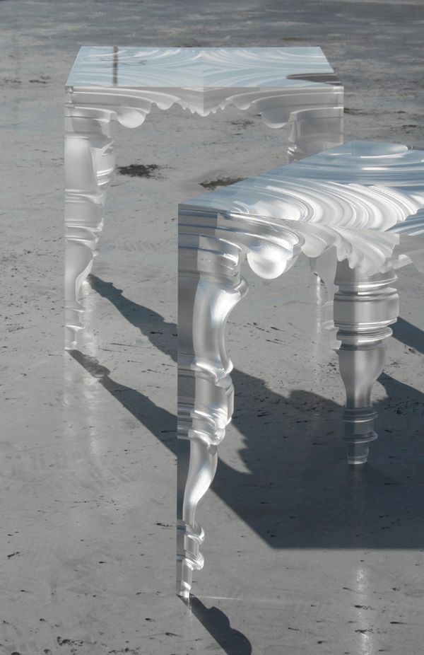 Acrylic Table In The Renaissance Style.