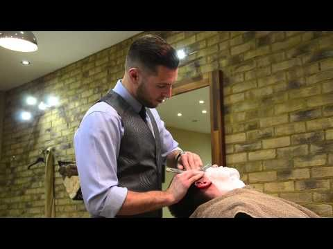 Old school straight shave by The Barber Luke - YouTube