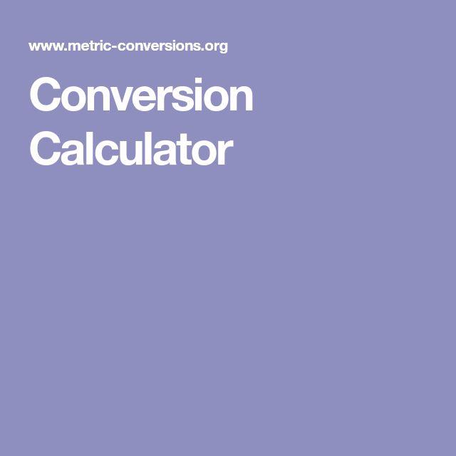 Conversion Calculator