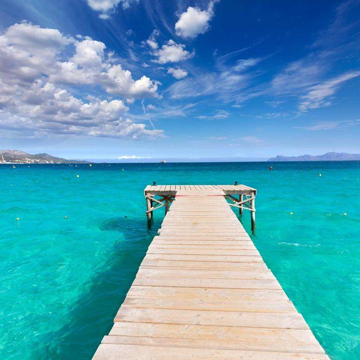 Preciosa Playa del Muro, situada entre Can Picafort y la Playa de Alcudia, es una zona muy concurrida, quizás de las más turísticas de Mallorca