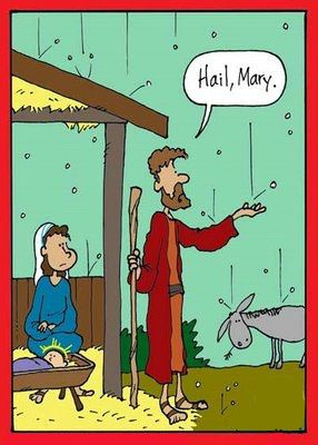 Funny Hail Mary Cartoon Joke