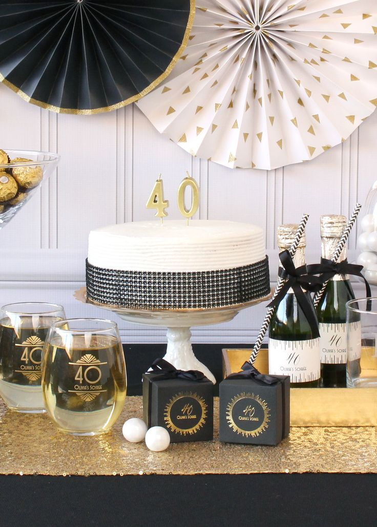 Celebrate The Big Birthday With An Elegant Party Shop Collection Of Milestone Favors