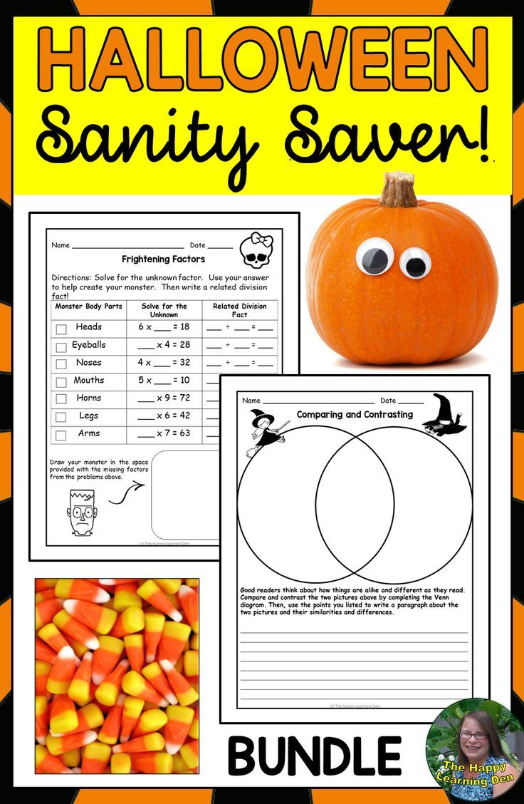 There Are 20 Engaging Reading Writing And Math Worksheets For Halloween In This Bundle Save Your Sani Halloween Reading Halloween Teaching Halloween Lesson [ 1128 x 736 Pixel ]