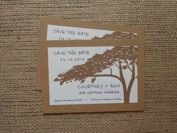 SAVE THE DATE Rustic Hand Made and Customised by CreateTheDate, $3.50