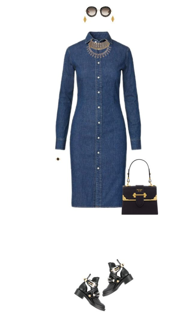 """""""Upgrade"""" by castles-inthesky ❤ liked on Polyvore featuring Balenciaga, Polo Ralph Lauren, Gucci, Prada, WithChic, Stephanie Kantis and Yves Saint Laurent"""