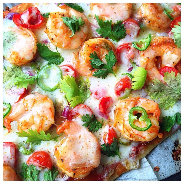 Cajun Shrimp Thin Crust Pizza